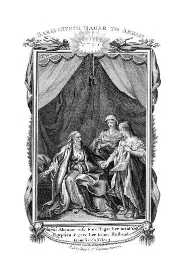 Sarah, Abraham's Wife, Being Barren, Offers Hagar Her Maid to Her Husband, C1804--Giclee Print