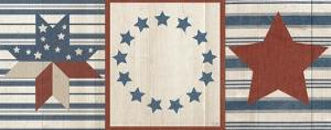 Americana Stars and Stripes I by Sarah Adams