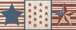 Americana Stars and Stripes II by Sarah Adams