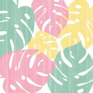 Monstera II Bright on White by Sarah Adams