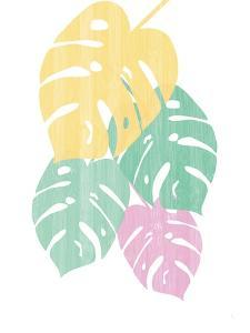 Monstera III Bright on White by Sarah Adams
