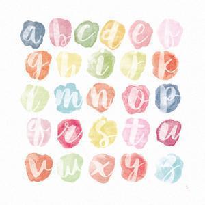 Watercolor Alphabet by Sarah Adams