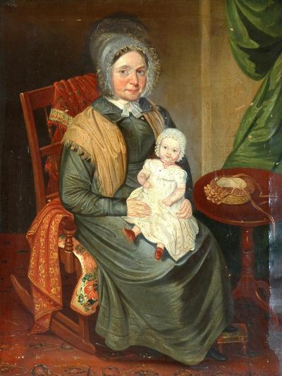 Sarah Barrett with a Child--Giclee Print