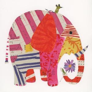 Big Elephant,Little Mouse, 2014,collage by Sarah Battle
