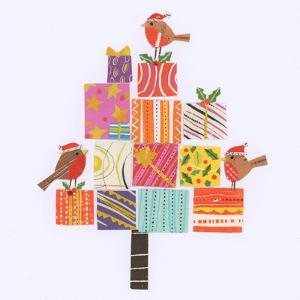 Robin Christmas Present Tree by Sarah Battle