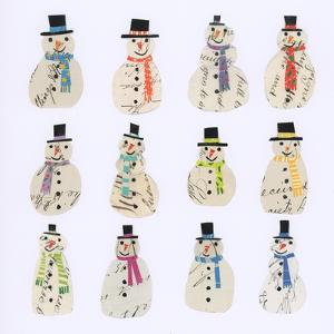 Twelve Document snowmen by Sarah Battle