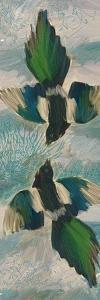 Birds Green Blue by Sarah Butcher