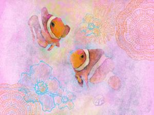 Clownfish Pair by Sarah Butcher