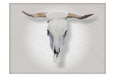 Cow Skull in Alabaster