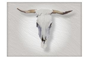 Cow Skull in Alabaster by Sarah Butcher