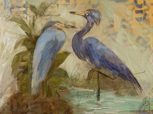 Egret Pair by Sarah Butcher