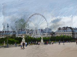 Paris Louvre Ferris Wheel by Sarah Butcher