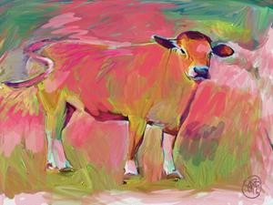 Pink Calf 2 by Sarah Butcher