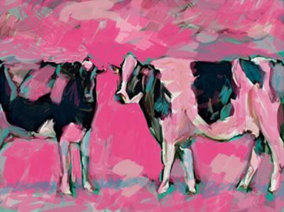 Pink Cows 1 by Sarah Butcher