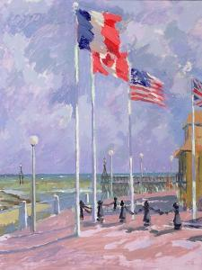 Flags at Courseulles, Normandy by Sarah Butterfield