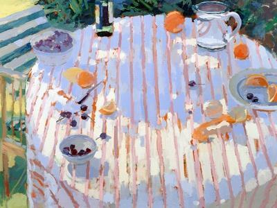 In the Garden, Table with Oranges