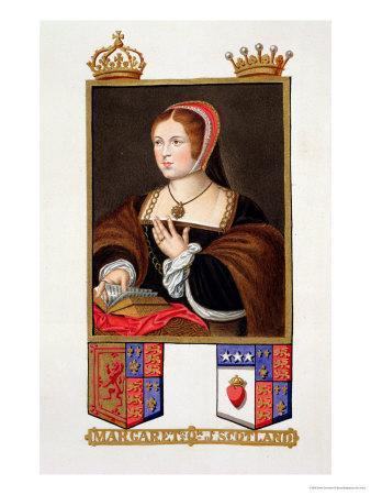 "Portrait of Margaret Tudor Queen of Scotland from ""Memoirs of the Court of Queen Elizabeth"""