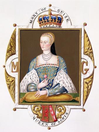 "Portrait of Mary of Guise (1515-60) Queen of Scotland from ""Memoirs of Court of Queen Elizabeth"""