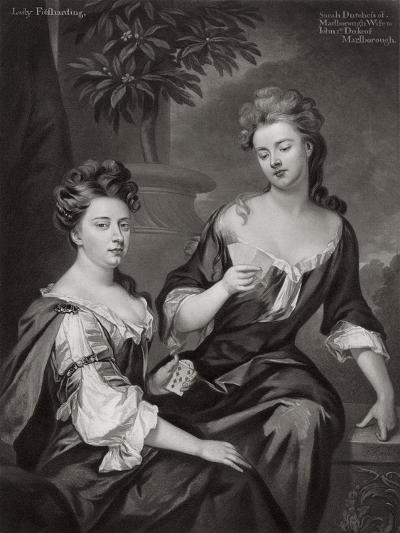 Sarah, Duchess of Marlborough, and Lady Fitzharding, C1702--Giclee Print