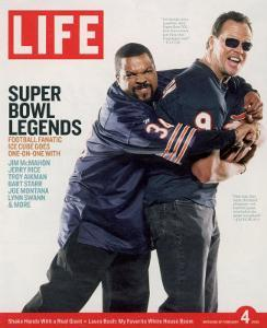 Rapper Ice Cube and Former Bear Quarterback Jim McMahon, February 4, 2005 by Sarah Friedman