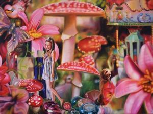 Alannah in Wonderland  2013  (oil on canvas) by Sarah Graham