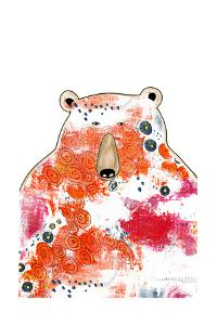 Bear with Orange Flowers by Sarah Ogren