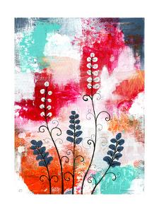 Bright Abstract with Flowers by Sarah Ogren
