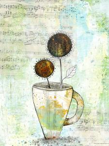 Coffee Cup with Flowers by Sarah Ogren