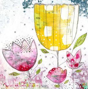 Fuschia and Yellow Flowers by Sarah Ogren
