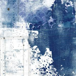 Navy Abstract I by Sarah Ogren
