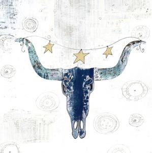 Navy Cow Skull by Sarah Ogren