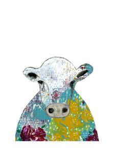 Ogren Abstract Floral Cow by Sarah Ogren