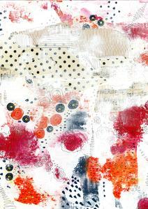 Orange and Fuschia Abstract II by Sarah Ogren