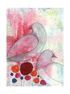 Two Birds in Fuschia by Sarah Ogren