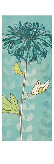 Sarah's Garden I in Blue-Sarah Adams-Premium Giclee Print