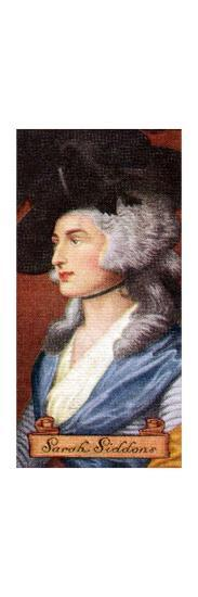 Sarah Siddons, taken from a series of cigarette cards, 1935. Artist: Unknown-Unknown-Giclee Print