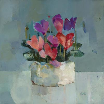 Pretty Pot of Cyclamen by Sarah Simpson