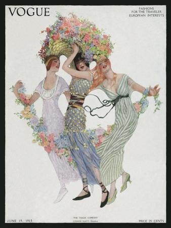 Vogue Cover - June 1913 by Sarah Stilwell Weber