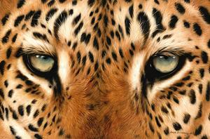 Leopard Eyes Painting by Sarah Stribbling