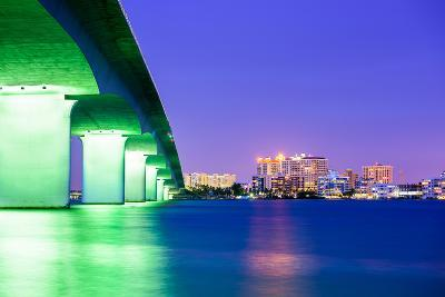 Sarasota, Florida, USA Downtown City Skyline.-SeanPavonePhoto-Photographic Print