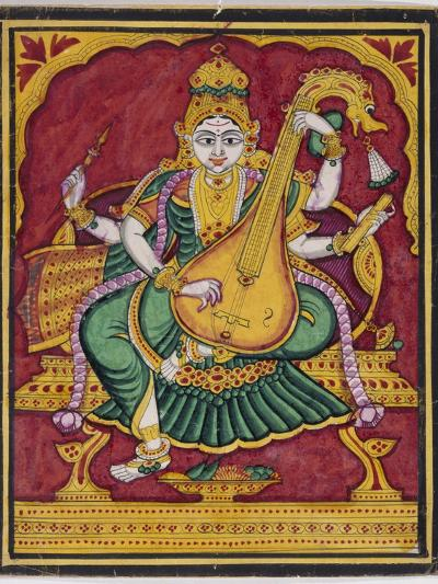 Saraswati. Mysore. India, c.1835--Giclee Print