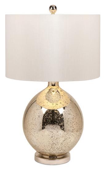 Saratoga Mercury Glass Table Lamp--Home Accessories