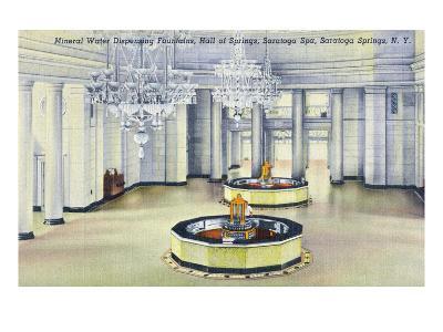 Saratoga Springs, New York - Hall of Springs Interior View-Lantern Press-Art Print