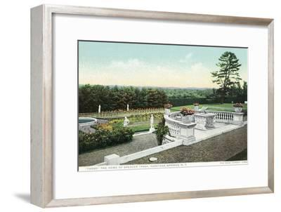 Saratoga Springs, New York - View from the Yaddo Rose Garden Terrace-Lantern Press-Framed Art Print