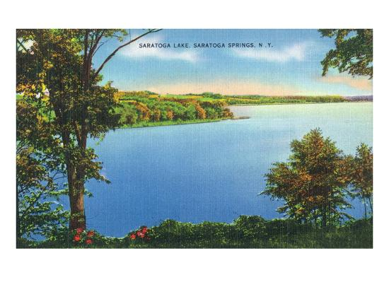 Saratoga Springs, New York - View of Saratoga Lake-Lantern Press-Art Print