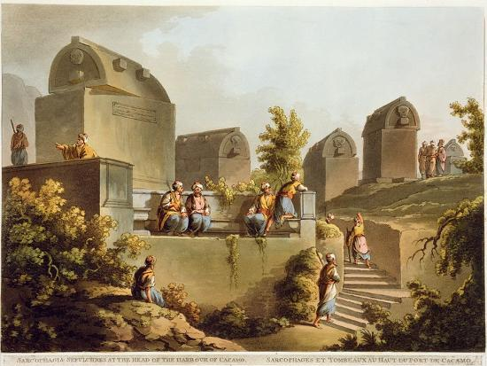 Sarcophagi and Sepulchres, at Harbour at Cacamo, Views in the Ottoman Empire, Published Bowyer-Luigi Mayer-Giclee Print