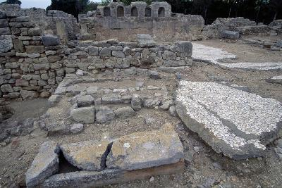 Sarcophagi in the Early Christian Basilica in Ampurias--Giclee Print