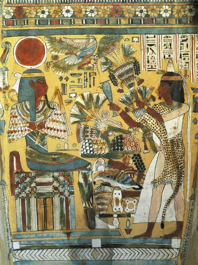 Sarcophagus of Ankt Ef Rhonson, Scribe of the Temple of Amon--Giclee Print
