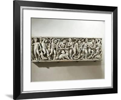 Sarcophagus of Labours of Hercules--Framed Giclee Print