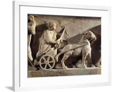 Sarcophagus of M. Cornelius Statius with Scenes from His Childhood, Detail of Child Playing--Framed Giclee Print